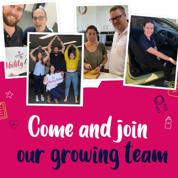 Photos of our team and the words come and join our growing team