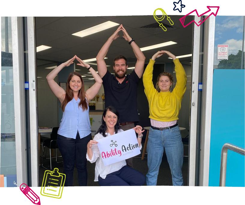 Ability Action Australia employees posing
