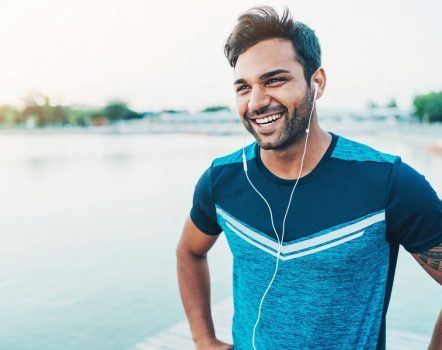 Male jogger with headphones - Exercise Physiologists